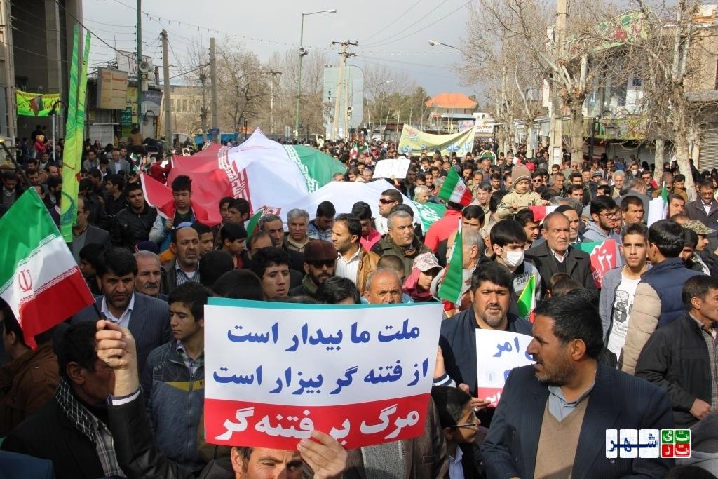 راهپیمایی گسترده مردم در محکومیت آشوبگریهای اخیر