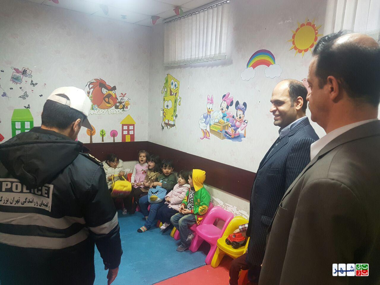 آموزش نکات ترافیکی به نونهالان غرب پایتخت