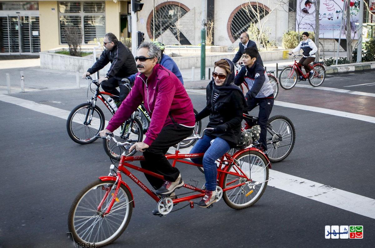 خیابان های تهران آماده رکاب زدن دوچرخه سواران نیست